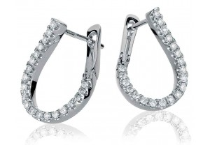 LADIES DIAMOND HOOP EARRINGS 0.50CT REF:GP3132